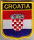 Croatia Embroidered Flag Patch, style 07.